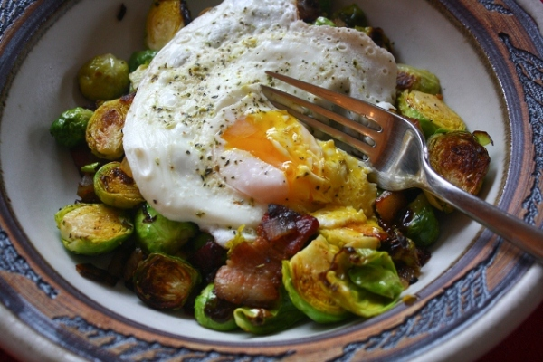 My favorite breakfast is brussels sprouts with eggs. Nom nom