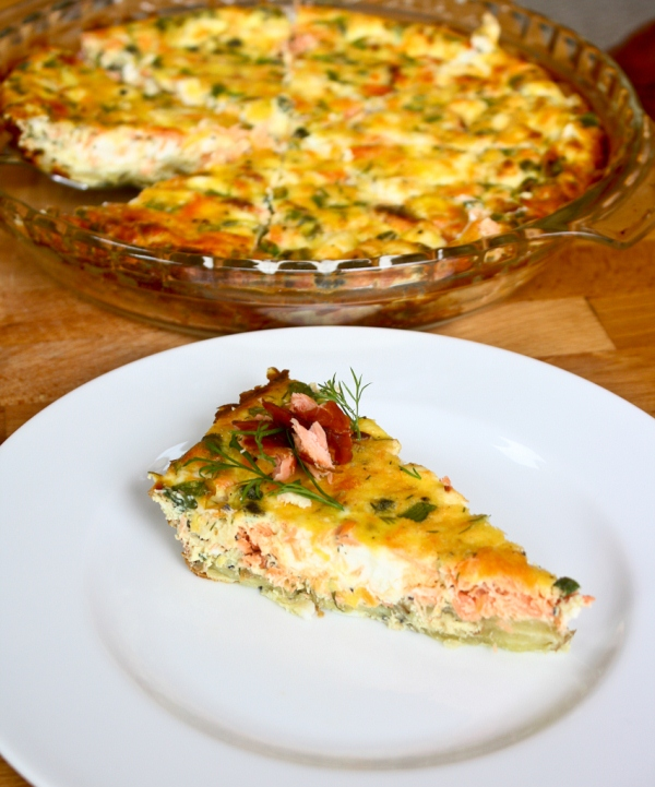 Primal smoked salmon quiche